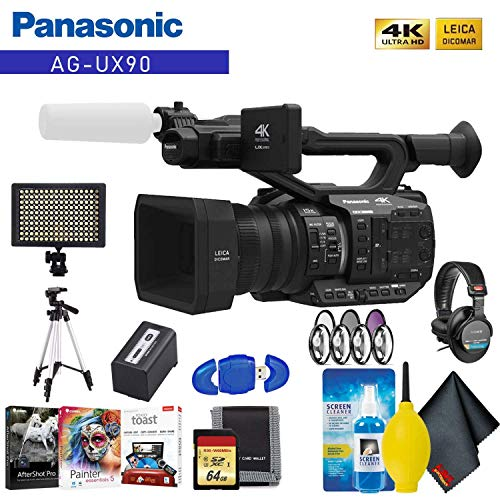 Fantastic Prices! Panasonic AG-UX90 4K/HD Professional Camcorder Advanced Accessory Kit