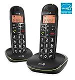 Doro PhoneEasy 100w Duo DECT Schnurlostelefon mit zusätzlichem Mobilteil (Ladeschale, Freisprechen) schwarz
