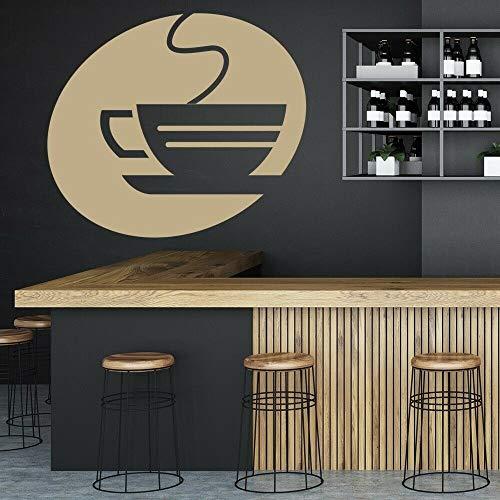 Taza de té, calcomanía de pared, café, vapor, comida, bebida, restaurante, cafetería, decoración de interiores, puertas y ventanas, pegatina de vinilo, logotipo, mural artístico