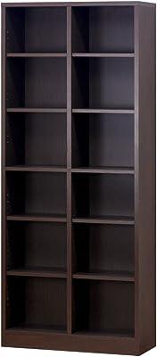 クロシオ 万能カスタム書棚 シェルフ7518 ブラウン 幅75cm奥行29.5cm高さ180cm