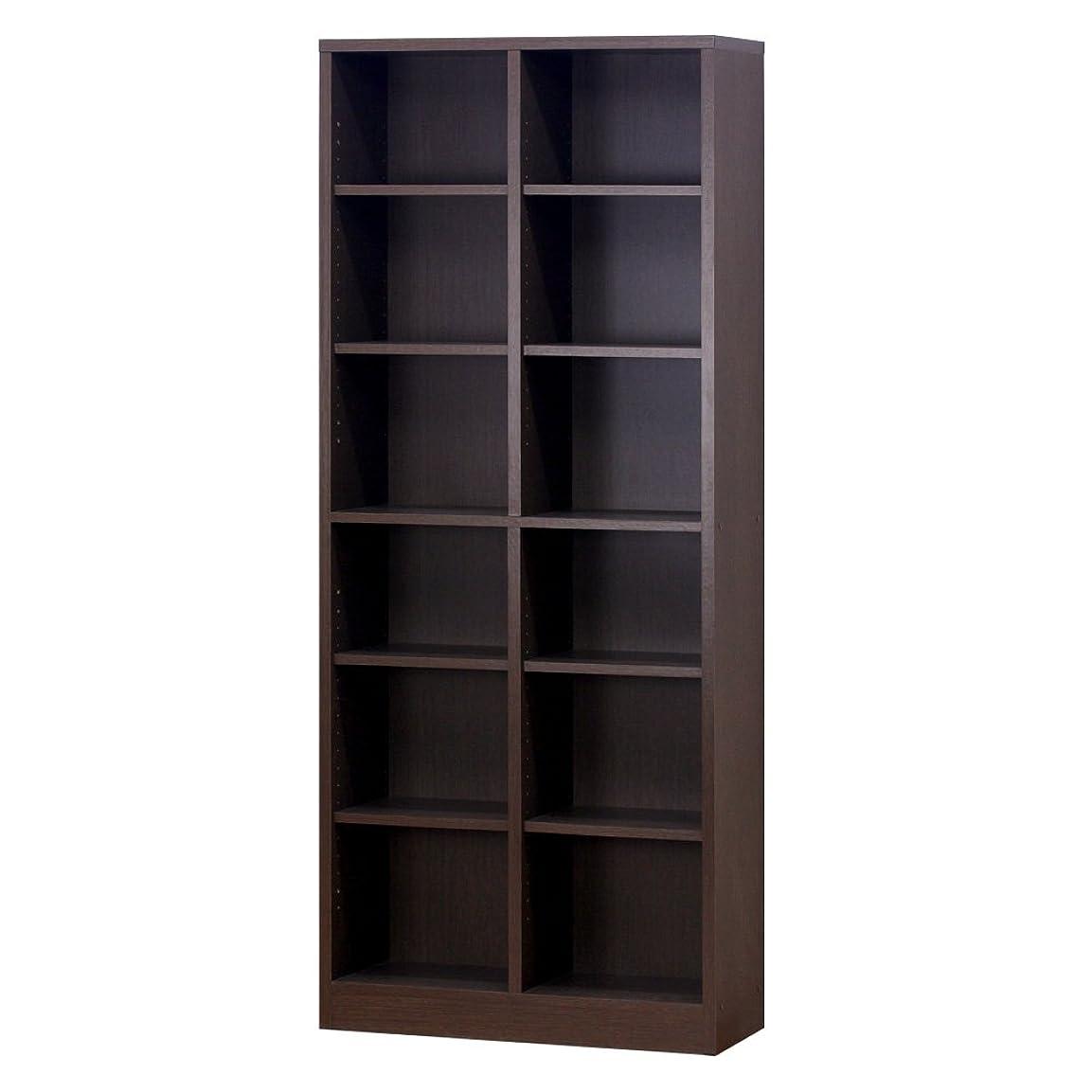 キャラバンゆるい哲学者クロシオ 万能カスタム書棚 シェルフ7518 ブラウン 幅75cm奥行29.5cm高さ180cm