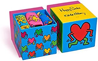 Happy Socks - Colorful Limited Edition Keith Haring Cotton Socks for Men and Women