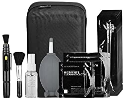 commercial Movo Deluxe Essentials DSLR Camera Cleaning Kit, 10 APS-C Cleaning Swabs, Sensor Cleaning … camera cleaning kit