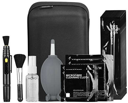 Movo Deluxe Essentials DSLR Camera Cleaning Kit with 10 APS-C Cleaning Swabs, Sensor...