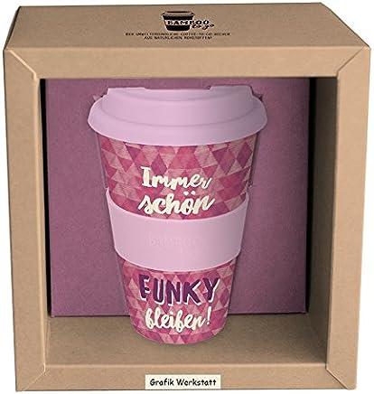Preisvergleich für Grafik Werkstatt // Bambusbecher // Kaffeebecher // Coffee-to-Go // Trinkbecher // 400 ml // Bamboo-to-go // Funky