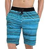 メンズスイミングトランクス ゆったりとした大きいサイズの速乾性男性スパ水泳海辺のビーチホリデービッグパンツ潮 メンズスイミングトランクス (サイズ : L)