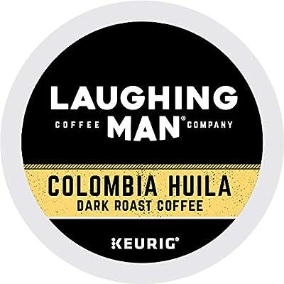 Laughing Man Columbia Huila, Single-Serve Keurig K-Cup Pods, Dark Roast Coffee, 60 Count