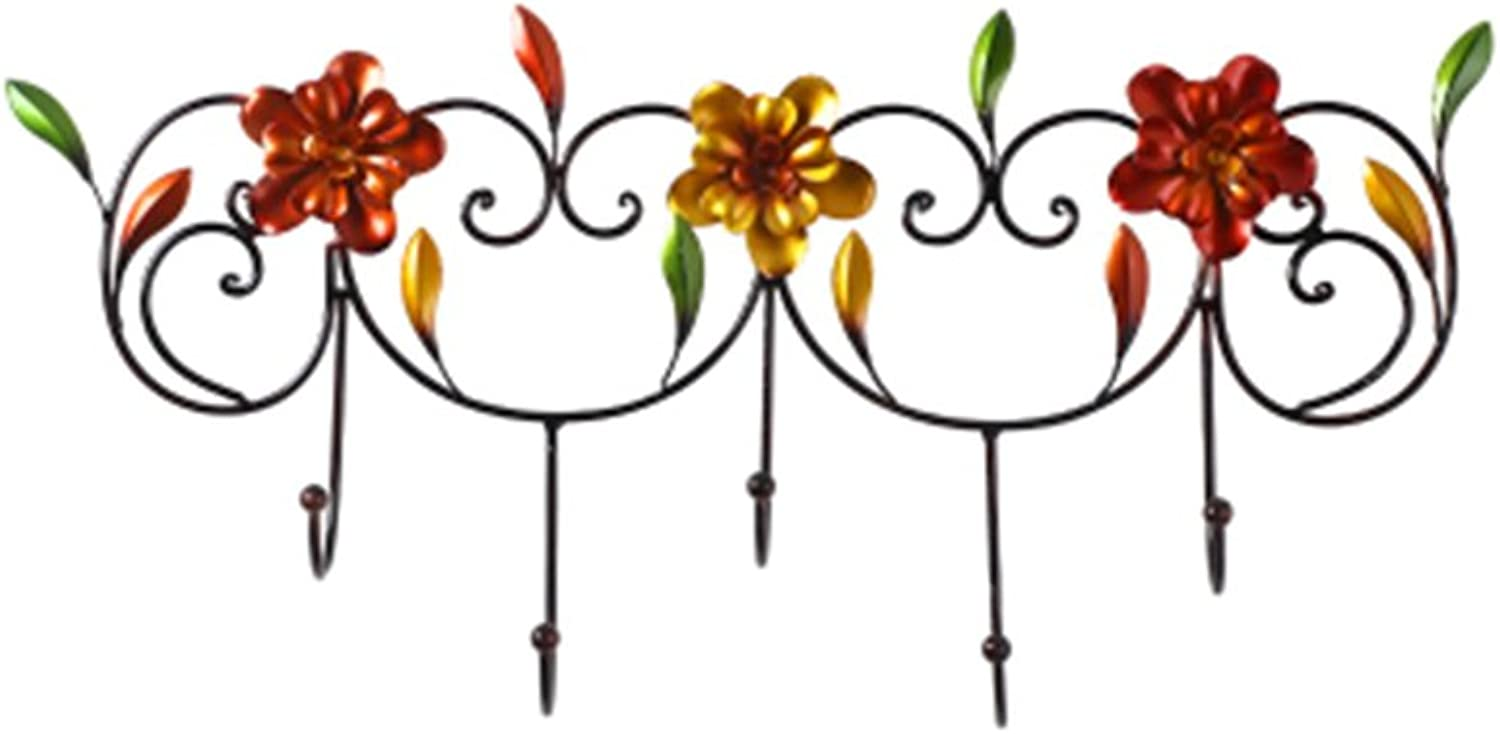 Coat Rack, Creative Wrought Iron Hanging Hook Entrance Porch Key Hook Decorative Hook Wall Coat Rack Wall Mounted Clothing Hanger 37  32cm Easy to Install (Size   62  30cm)