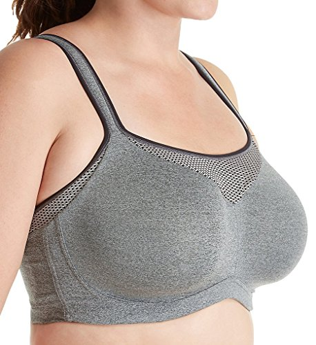 Curvy Couture Ultimate Fit High Impact Underwire Sports Bra, 44C, Heather Grey