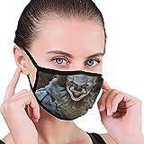 ZOMOY Gesichtsbedeckung,Devil Clown Hintergrundmuster,Sturmhaube Unisex Wiederverwendbar Winddicht...