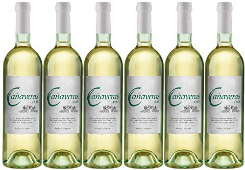 Cañaveras 1889 - Vino Blanco Airén - Vino de la Tierra de Castilla- 6 botellas x 750 ml