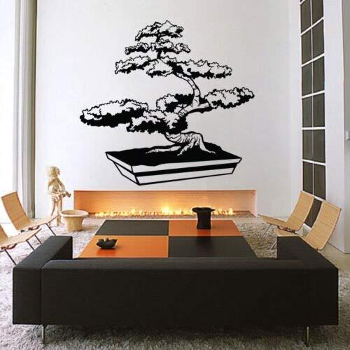JIAYOUHUO Islimic Wall Stickers Drops Vinilo Decoración del Dormitorio del hogar Árbol de los bonsais Zen Japón Shi Libre 45Cmx42Cm