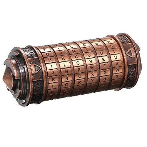 yorten Code Toys Metall Cryptex Schlösser Hochzeitsgeschenke Passwort vorhanden Zinklegierung und Antikkupfer Ca. 136 * 52mm