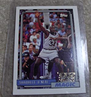 Shaquille O'Neal 1992/1993 Topps Near Mint to Mint Rookie Card #362 in Protective Screw Down Holder