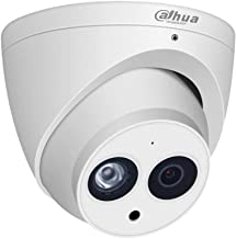 Dahua 6MP HD Security POE IP Camera, IPC-HDW4631C-A 2.8mm, All-Metal Eyeball Dome Camera with Built-in MIC, 165ft Smart IR...