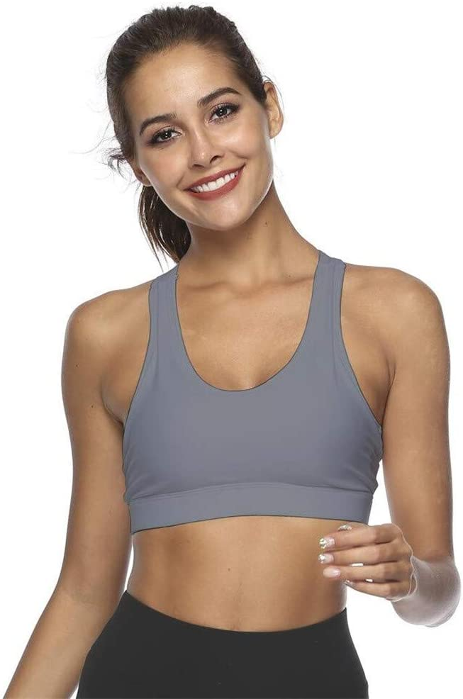 Criss-Cross Back Padded Strappy Sports Bras Medium Support Yoga Bra with Removable Cups KANGMOON Sports Bra for Women