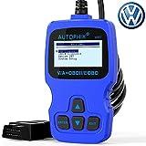 V007 OBD2 Scanner for Volkswagen VW Audi Skoda Seat with Engine ABS Airbag Transmission Erase Error Code Reader Throttle Adaptation TP Position Check Oil Brake Pad Reset Diagnostic Tool