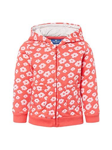 TOM TAILOR Kids Baby-Mädchen Sweatjacket Patterned Sweatjacke, Rot (Bittersweet 2011), (Herstellergröße: 80)