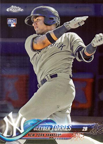 2018 Topps Chrome Baseball #31 Gleyber Torres Rookie Card