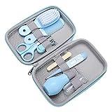 GJP Juego de Cuidado para bebés Protege la Salud del bebé Limpiador de Nariz para bebés cortaúñas para bebés Juego Completo de Cepillo de Dientes para bebés (Azul)
