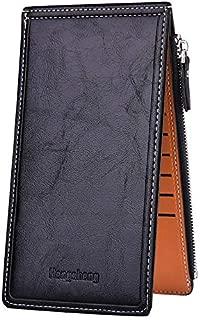 Women's Wallets and Billfolds Thin Multi Card Organizer Wallet Ladies Purse with Zipper Pocket (Black)