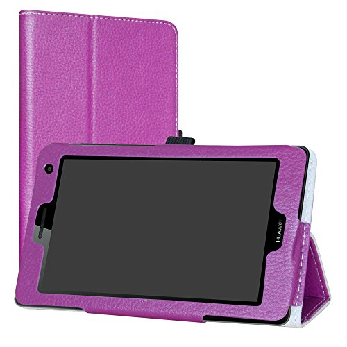 Labanema Huawei Mediapad T3 7 3G Custodia, PU Pelle Slim Flip Case Cover Protettiva Pieghevole Stand per 7' Huawei Mediapad T3 3G Tablet - Viola