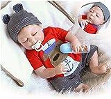 Reborn Baby Boy Dolls Silicone Full Body Lifelike Reborn Dolls Sleeping Reborn Boy 18 inch Anatomically Correct
