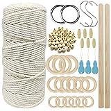 3MM Cordón de macramé Cuerda de macramé Kit de cordón de algodón con...