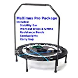 MaXimus PRO Folding Rebounder USA | Voted #1 Indoor Exercise Mini Trampoline For Adults...