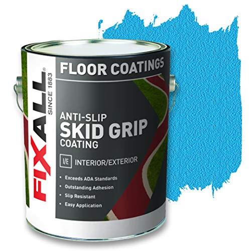 FIXALL Skid Grip Anti-Slip Paint, 100% Acrylic Skid-Resistant Textured Coating - F06530 - 1 Gallon, Color: Cobalt