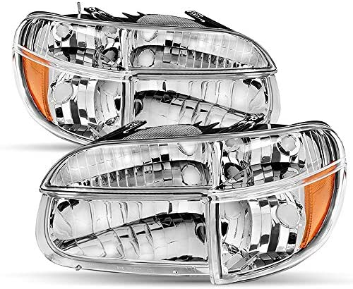Headlight Assembly Set Compatible with 1995 2001 Ford Explorer 1997 Mercury Mountaineer Black product image