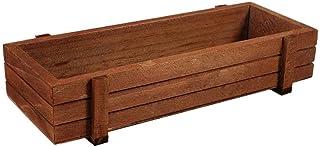 Macetero de madera, para jardín, ventana, con ventosa, para