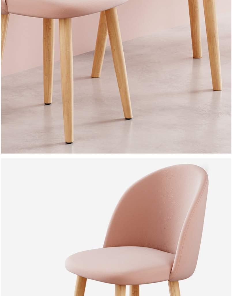 WDX- Chaise de Salle, Chaise de Bureau Simple, créative Dossier, Chaise Loisirs, Maison Adulte Chaise de Salle Confortable (Color : Green) Pink