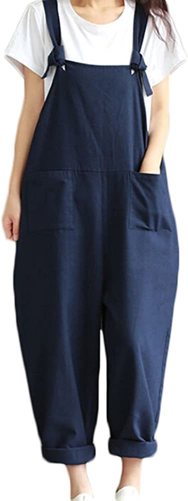Faithtur Max 62% OFF Women's Summer Casual Spaghetti Linen Jump Strap Cheap super special price Cotton