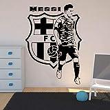 Jugadores de fútbol Etiqueta de la pared Habitación de los niños Dormitorio de Barcelona Jugador de fútbol Tatuajes de pared Vinilo Salón Decoración del hogar 58x41 cm