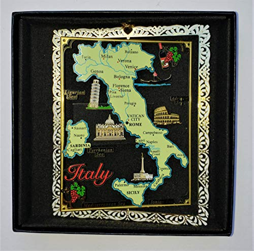 Italy Brass Christmas Ornament Landmarks Travel Souvenir Gift
