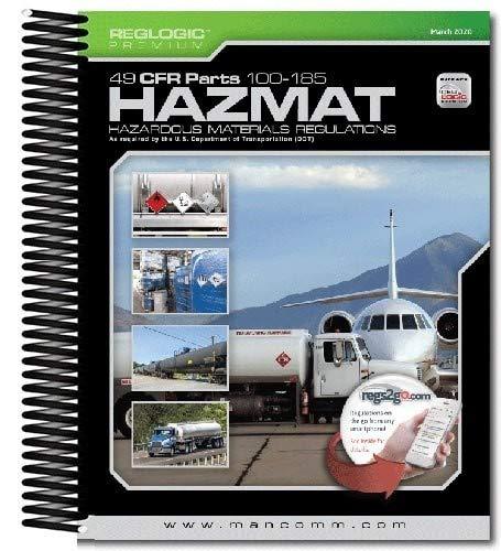 Mancomm's Hazmat 49 CFR 100-185 March 2020 Book