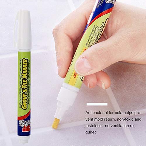 Rotulador permanente no tóxico para lechada y azulejo resistente al agua, sin olor, cerámica para reparación de azulejos con punta reversible