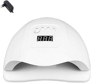 Secador de uñas Pantalla LCD Lámpara inteligente de detección automática Diseño de esquema indoloro sin ojos lastimados Base desmontable de secado rápido con 3 controles de tiempo preestablecidos