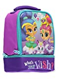 Nickelodeon Shimmer & Shine What's Your Wish Insulated Dual Compartment Lunch Tote with Handle Measures 7.5' W x 9.0' H x 5.0' Deep, Multicolor