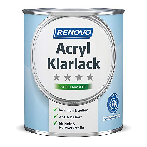 Renovo, Acryl Klarlack Seidenmatt 750 ml, Innen & Außen, Profilholzlack