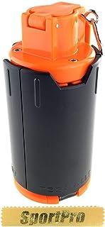 SP製 GR02 210発 6mm BB弾専用 インパクト グレネード スプリング式 プラスチック製 - ブラック【SportPro クリーニングクロス付】