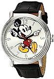 Disney Men's Mickey Mouse Silver-Tone Watch