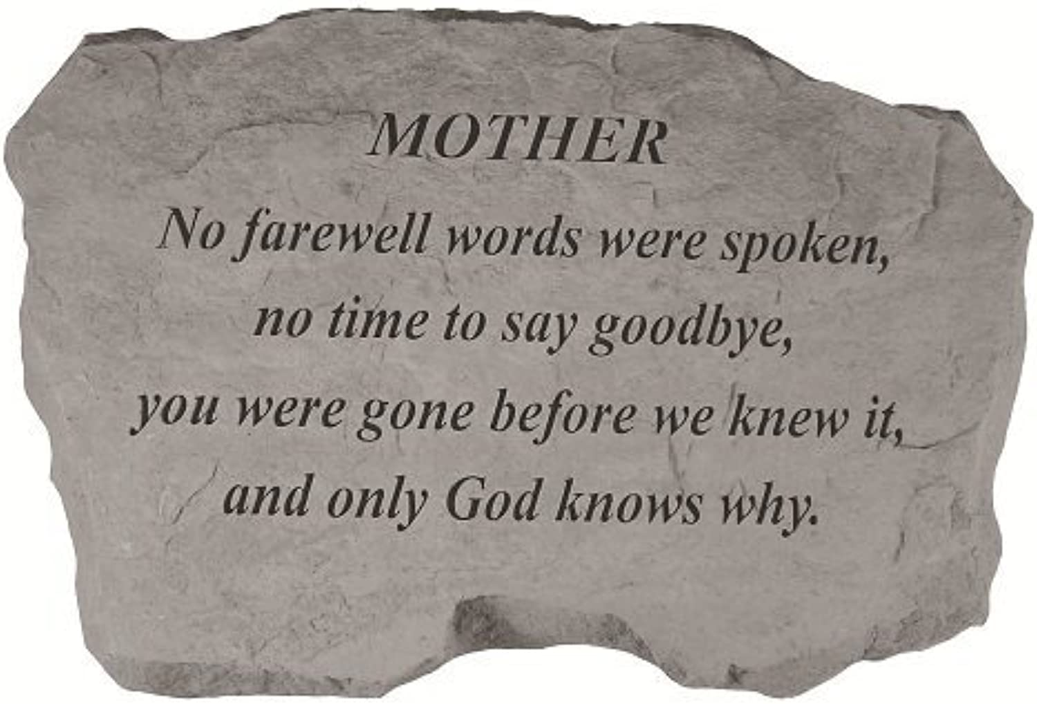 Kay Berry- Inc. 97820 Mother-No Farewell Words Were Spoken - Memorial - 16 Inches x 10.5 Inches x 1.5 Inches by Kay Berry Inc