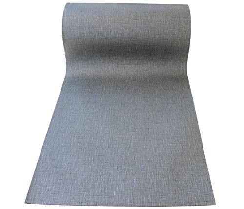 Bodenbelag Metallic Silver 45cm breit Länge wählbar (jeweils 50cm) + Polyester Gewirke