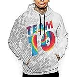 XCNGG Sudadera con Capucha para Hombre Suéter para Hombre Jake Paul Team 10 Men's Hoodie Sweatshirt White