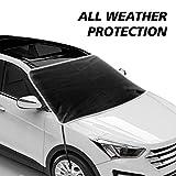 JASVIC Parasole per Parabrezza per Auto - Protezione per Visiera Parasole con Bordi e Ganci magnetici Adatti per la Maggior Parte delle Auto e SUV (200x120 cm)