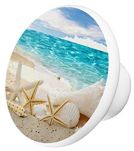 Starfish On Beach #1 Ceramic Cabinet Drawer Knob