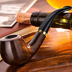 Ebony made it Modelling beautiful, soft handle Heat resistance, heat after no taste High quality,if match pipe tobacco pouch case,Will be more perfect
