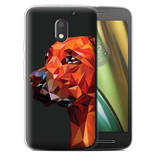 Stuff4® Custodia/Cover/Caso/Cassa Gel/TPU/Prottetiva Stampata con Il Disegno Animale Geometrico Natura per Motorola Moto E3 2016 - Cane/Labrador Retriever